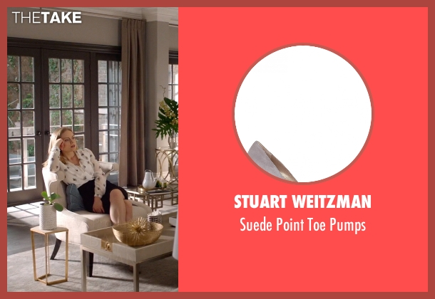 Stuart Weitzman gray pumps from Suits seen with Dr. Paula Agard (Christina Cole)