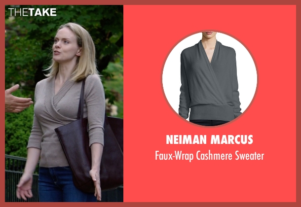 Neiman Marcus gray sweater from Suits seen with Dr. Paula Agard (Christina Cole)