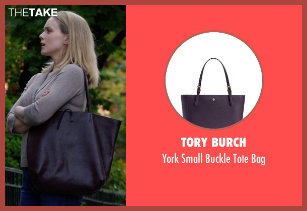 Tory Burch purple bag from Suits seen with Dr. Paula Agard (Christina Cole)