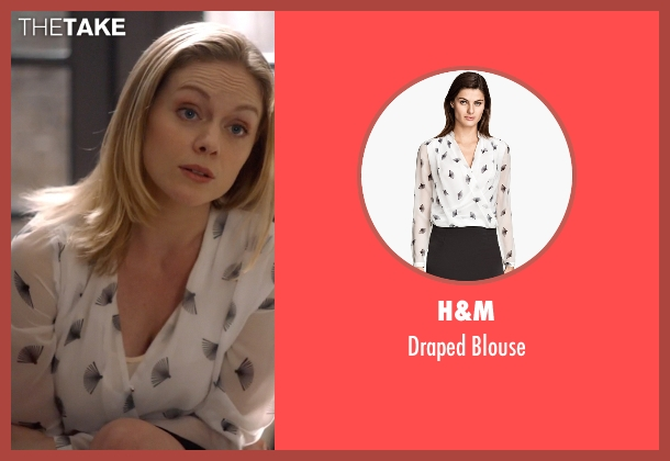 H&M white blouse from Suits seen with Dr. Paula Agard (Christina Cole)