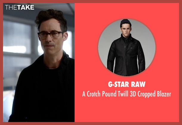 G-Star Raw black blazer from The Flash seen with Dr. Wells (Tom Cavanagh)