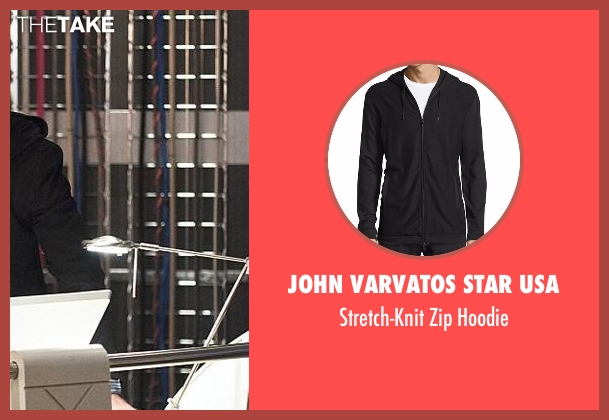 John Varvatos Star USA black hoodie from The Flash seen with Dr. Wells (Tom Cavanagh)