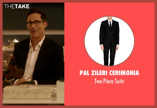Pal Zileri Cerimonia black suits from The Flash seen with Dr. Wells (Tom Cavanagh)