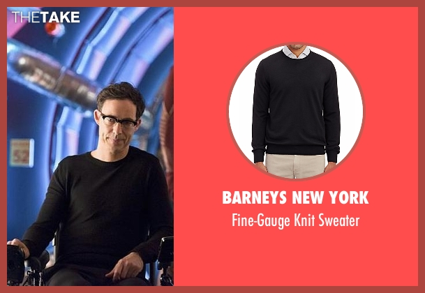 Barneys New York black sweater from The Flash seen with Dr. Wells (Tom Cavanagh)