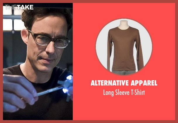 Alternative Apparel brown t-shirt from The Flash seen with Dr. Wells (Tom Cavanagh)