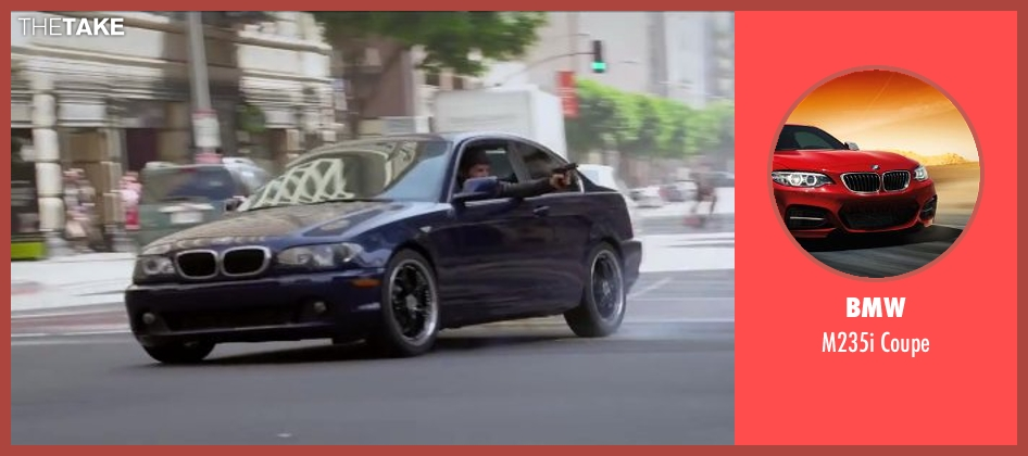 BMW blue coupe from Ride Along seen with Dragos Bucur (Marko)