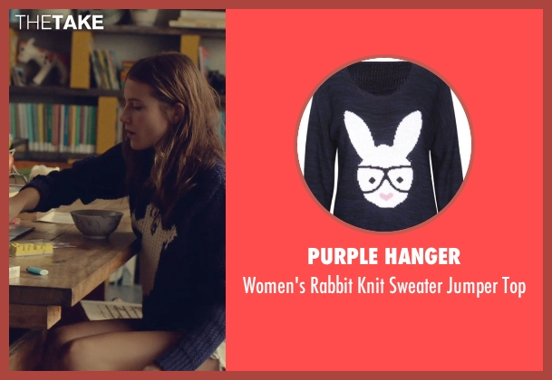 Purple Hanger blue top from While We're Young seen with Dree Hemingway (Tipper)