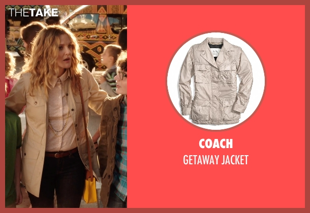 Coach beige jacket from Blended seen with Drew Barrymore (Lauren Reynolds)