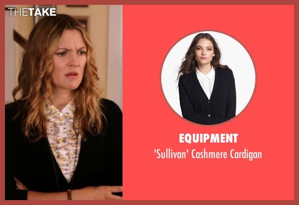 Equipment black cardigan from Blended seen with Drew Barrymore (Lauren Reynolds)