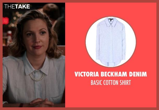 Victoria Beckham Denim blue shirt from Blended seen with Drew Barrymore (Lauren Reynolds)