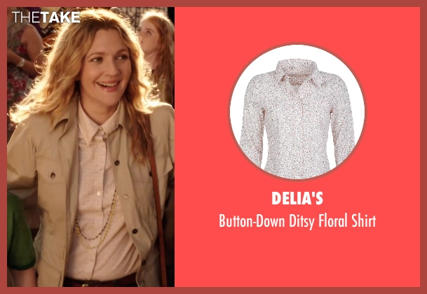 Delia's pink shirt from Blended seen with Drew Barrymore (Lauren Reynolds)
