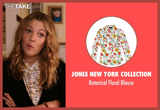 Jones New York Collection white blouse from Blended seen with Drew Barrymore (Lauren Reynolds)