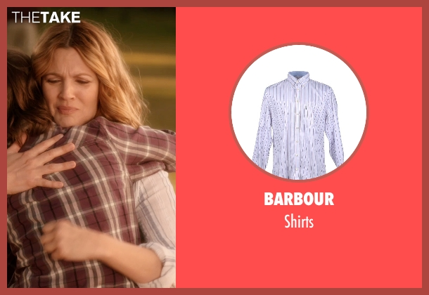 BARBOUR white shirts from Blended seen with Drew Barrymore (Lauren Reynolds)