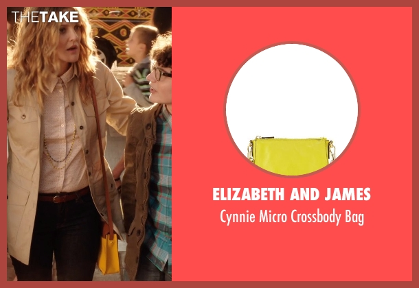 Elizabeth and James yellow bag from Blended seen with Drew Barrymore (Lauren Reynolds)