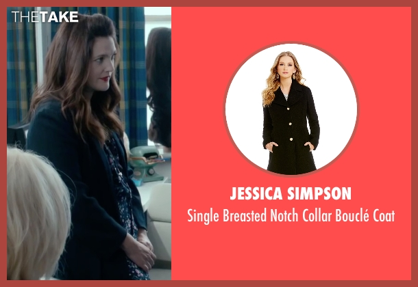 Jessica Simpson black coat from Miss You Already seen with Drew Barrymore (Jess)