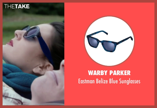 Warby Parker blue sunglasses from Miss You Already seen with Drew Barrymore (Jess)