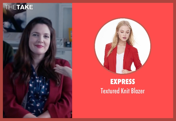 Express red blazer from Miss You Already seen with Drew Barrymore (Jess)