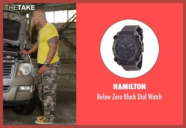 Hamilton black watch from Central Intelligence seen with Dwayne Johnson (Bob)