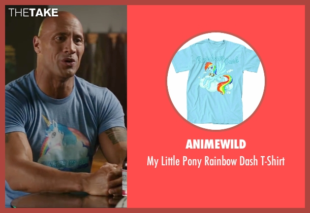 Animewild blue t-shirt from Central Intelligence seen with Dwayne Johnson (Bob)