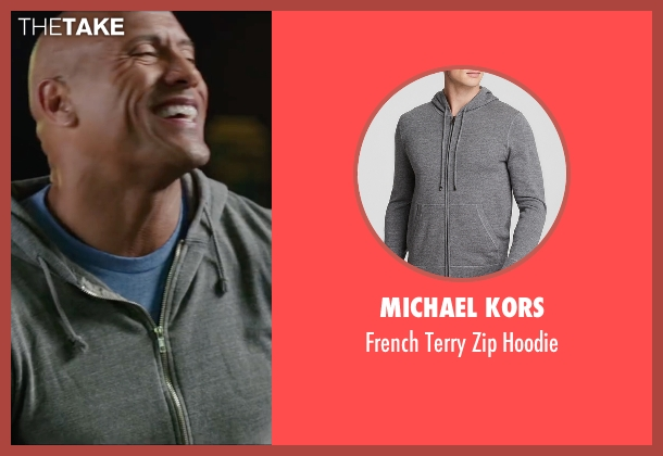 Michael Kors gray hoodie from Central Intelligence seen with Dwayne Johnson (Bob)