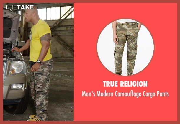 True Religion green pants from Central Intelligence seen with Dwayne Johnson (Bob)