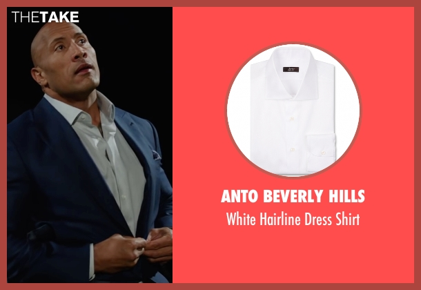 Anto Beverly Hills white shirt from Central Intelligence seen with Dwayne Johnson (Bob)