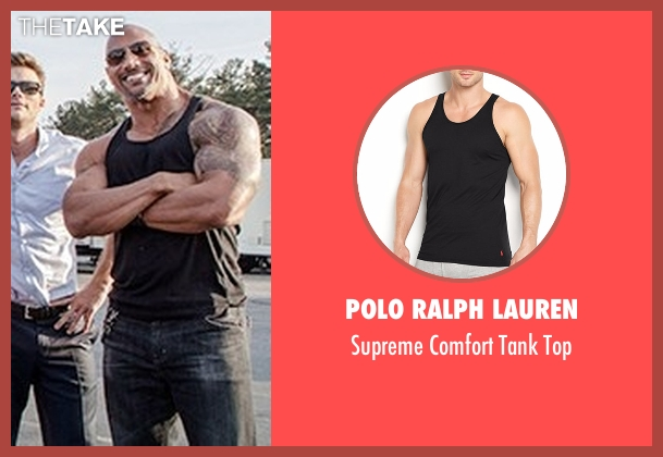 Polo Ralph Lauren black top from The Fate of the Furious seen with Dwayne Johnson (Luke Hobbs)