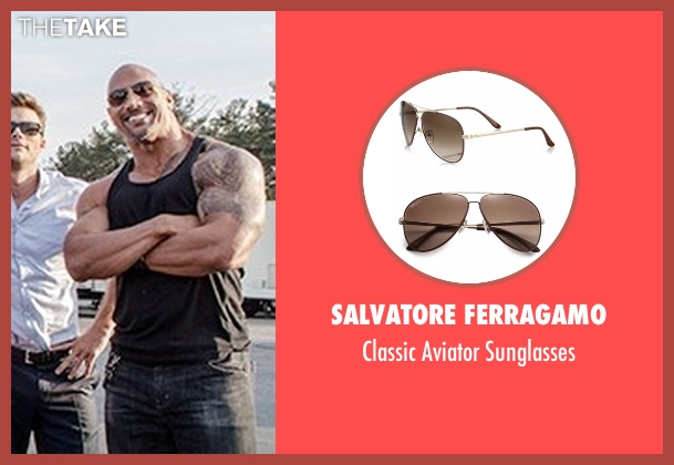 Salvatore Ferragamo sunglasses from The Fate of the Furious seen with Dwayne Johnson (Luke Hobbs)