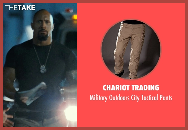 Chariot Trading beige pants from Fast Five seen with Dwayne Johnson (Luke Hobbs)