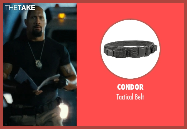 Condor belt from Fast Five seen with Dwayne Johnson (Luke Hobbs)