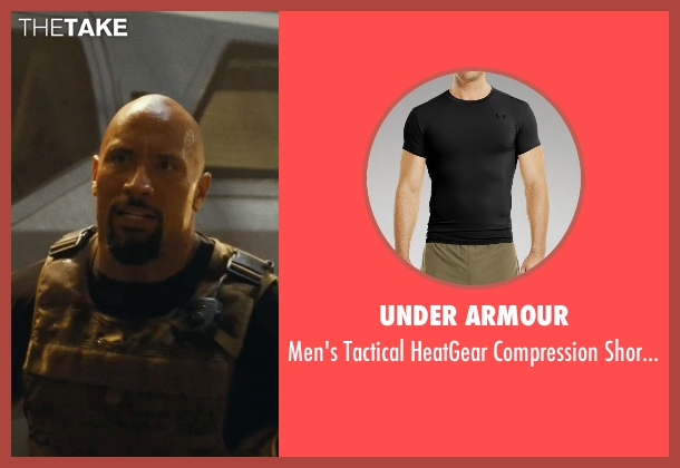 Under Armour black t-shirt from Fast Five seen with Dwayne Johnson (Luke Hobbs)