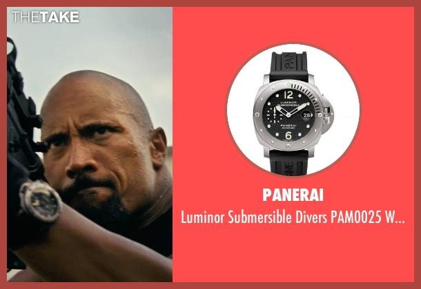 Panerai black watch from Fast Five seen with Dwayne Johnson (Luke Hobbs)