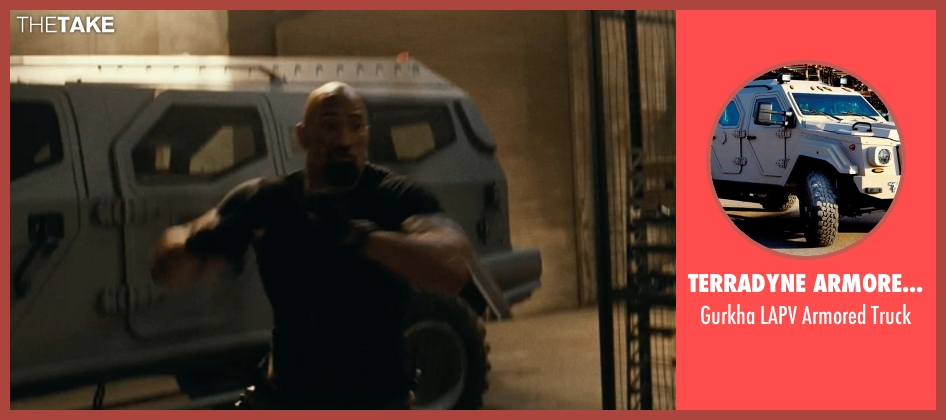Terradyne Armored Vehicles Inc. truck from Fast Five seen with Dwayne Johnson (Luke Hobbs)