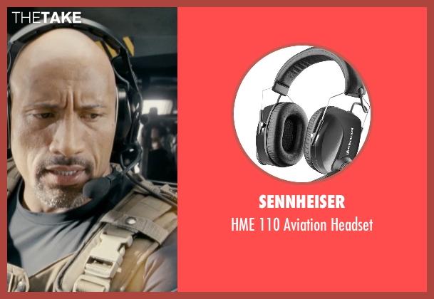 Sennheiser black headset from Fast & Furious 6 seen with Dwayne Johnson (Luke Hobbs)