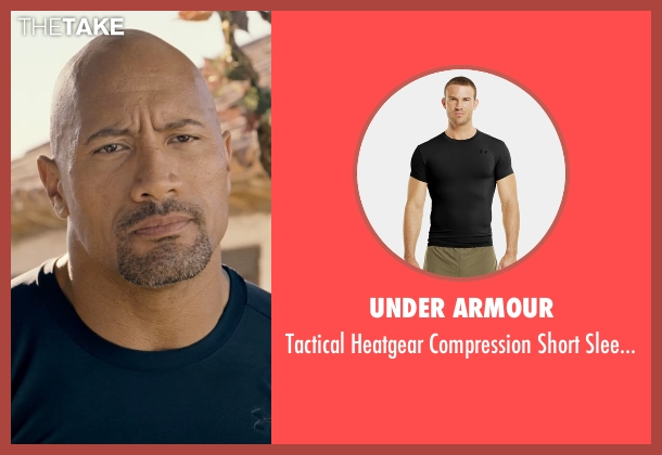 Under Armour black t-shirt from Fast & Furious 6 seen with Dwayne Johnson (Luke Hobbs)
