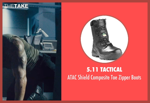 5.11 Tactical black boots from Furious 7 seen with Dwayne Johnson (Luke Hobbs)