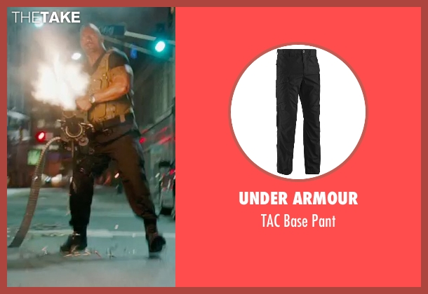 Under Armour black pant from Furious 7 seen with Dwayne Johnson (Luke Hobbs)
