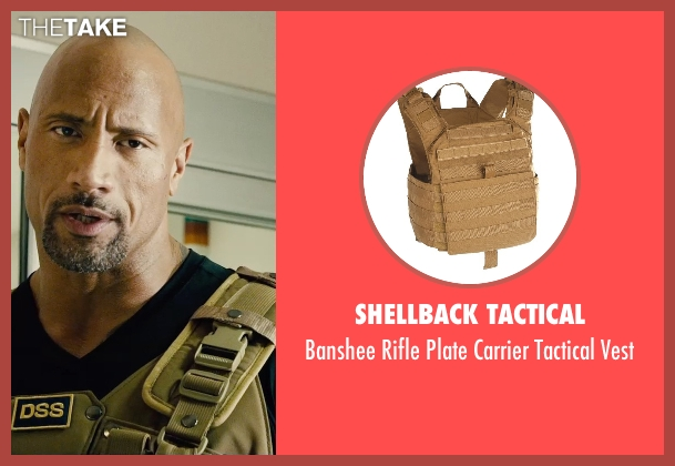 Shellback Tactical vest from Furious 7 seen with Dwayne Johnson (Luke Hobbs)