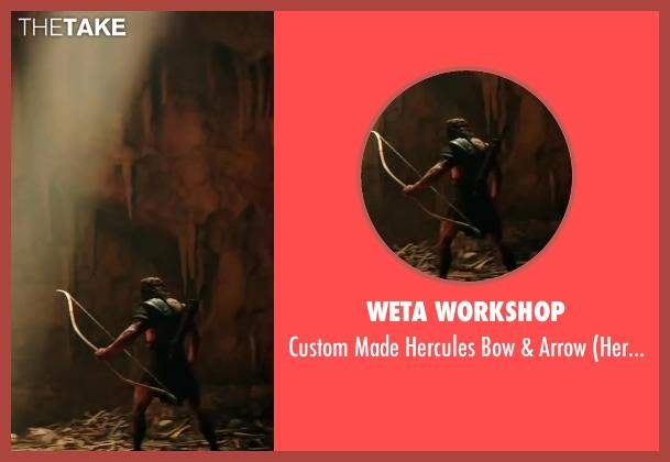 Weta Workshop arrow from Hercules seen with Dwayne Johnson (Hercules)