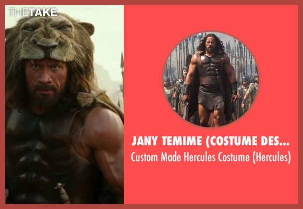 Jany Temime (Costume Designer) costume from Hercules seen with Dwayne Johnson (Hercules)