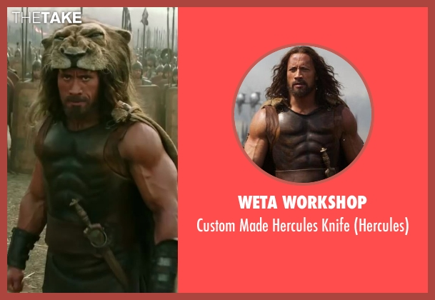 Weta Workshop knife from Hercules seen with Dwayne Johnson (Hercules)