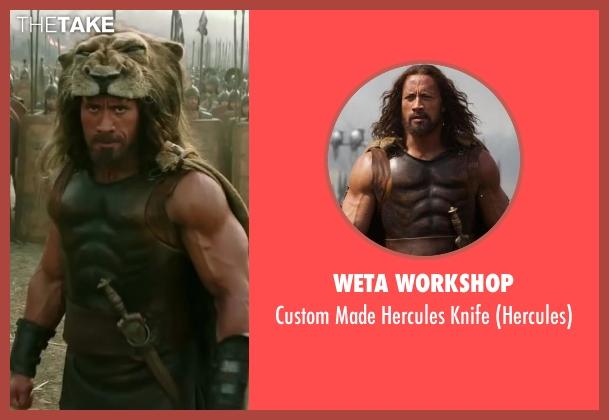 Weta Workshop knife from Hercules seen with Dwayne Johnson (Hercules)