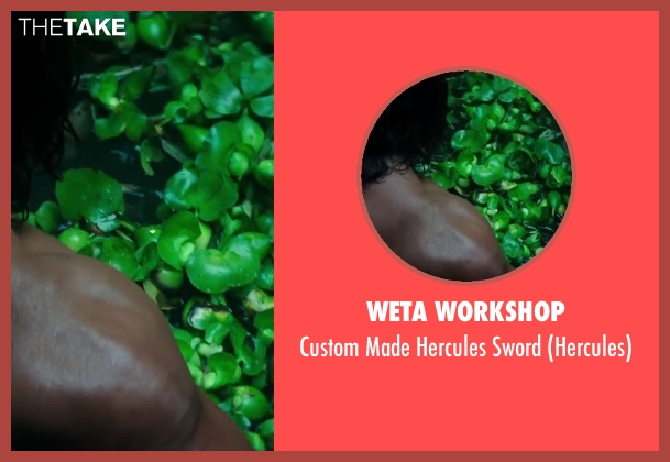 Weta Workshop sword from Hercules seen with Dwayne Johnson (Hercules)