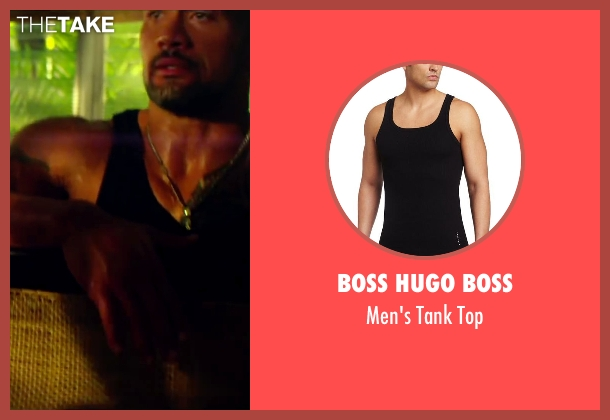 Boss Hugo Boss black top from Pain & Gain seen with Dwayne Johnson (Paul Doyle)