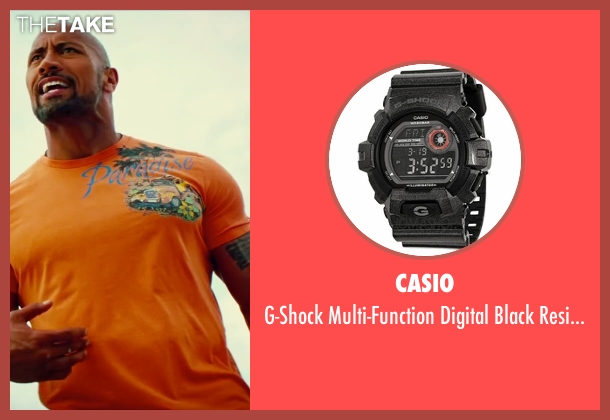 Casio black watch from Pain & Gain seen with Dwayne Johnson (Paul Doyle)