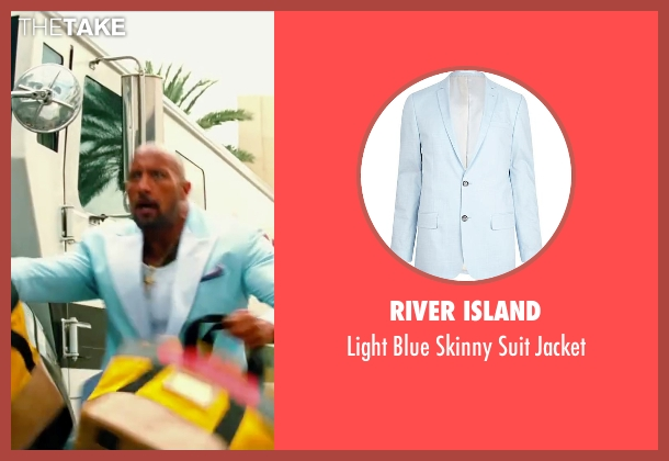 River Island blue jacket from Pain & Gain seen with Dwayne Johnson (Paul Doyle)