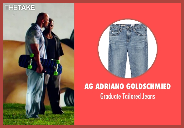 AG Adriano Goldschmied blue jeans from Pain & Gain seen with Dwayne Johnson (Paul Doyle)