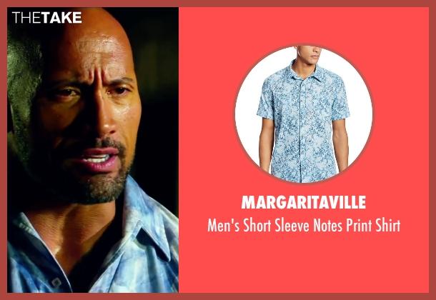 Dwayne Johnson Margaritaville Men's Short Sleeve Notes ...  Dwayne Johnson ...