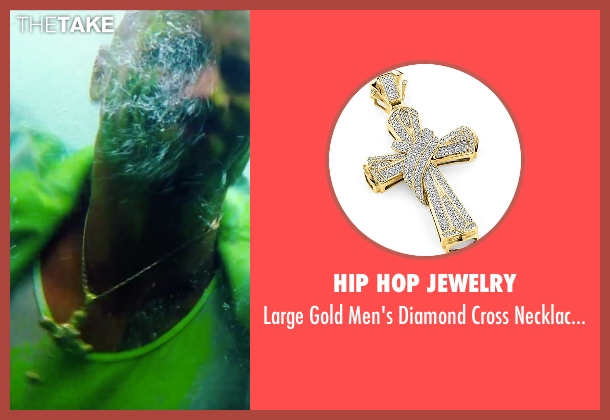 Hip Hop Jewelry gold pendant from Pain & Gain seen with Dwayne Johnson (Paul Doyle)