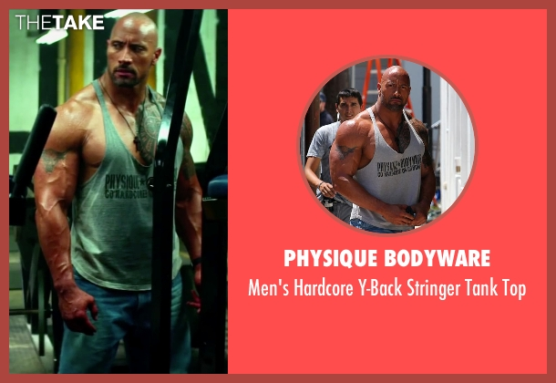 Physique Bodyware gray top from Pain & Gain seen with Dwayne Johnson (Paul Doyle)